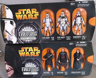Star Wars Evolutions MIP Set Lot Hasbro The Sith Clone Trooper Stormtrooper IV