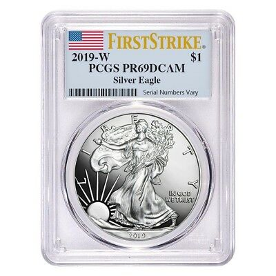 2019-W 1 oz Proof Silver American Eagle PCGS PF 69 DCAM First Strike