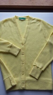 Vintage 60 70 HAYMAKER Yellow WOMEN S CARDIGAN SWEATER Medium LACOSTE  ALLIGATOR 0f64f576d
