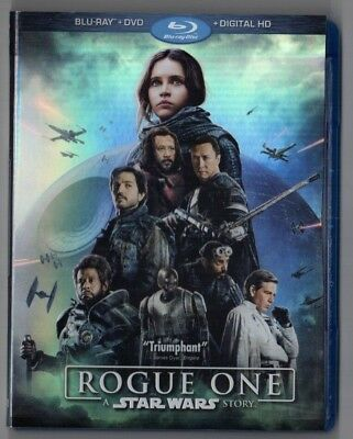 Rogue One: A Star Wars Story (Blu-ray ONLY, 2017, NO Digital or DVD) vg