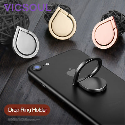 Drop Finger Grip Ring Phone Stand Holder Mount For iPhone 5 6 7 8 X Samsung iPad