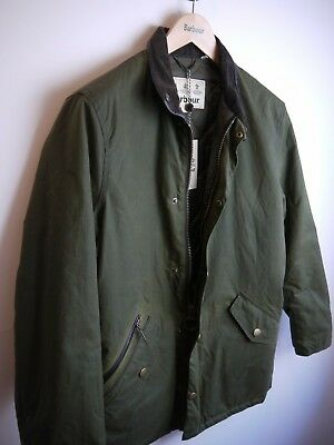 Barbour Men's Prestbury Wax Jacket, New With Tags, Small, Olive Green