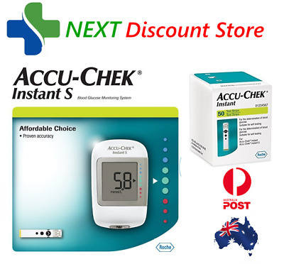Accu Chek Instant S Meter with 50 Test Strips Included