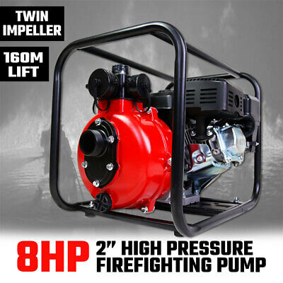 "2"" Petrol High Pressure Water Pump 8HP Fire Fighting Twin Impeller Irrigation"