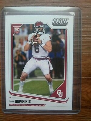 2018 Cleveland Browns Quarterback Baker Mayfield Panini