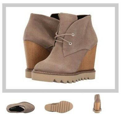 c9ea848137af BCBGeneration NARISKA Oil Calf Suede Ankle Boots BOOTIES SMOKE TAUPE