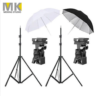 MK Photography Speedlite Flash Umbrella Lighting Light Stand with Bracket Kit