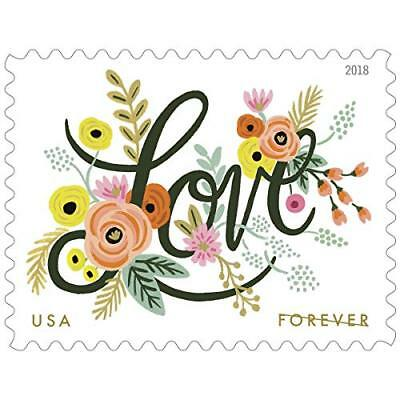 Love Flourishes 2 Sheets of 20 USPS First Class Forever Postage Stamps Wedding L