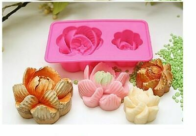 (Silicone Mould) Peony flower 2 Balls Silicone soap Mould plaster Mold