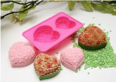(Silicone Mould) Flower of Heart 2balls  Silicone soap Mould plaster Mold