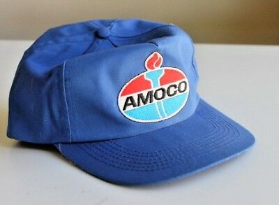 Vintage Style Amoco Truck Stop Store Gas Station Oil Trucker Hat Snapback  blue dc69a1619f5c