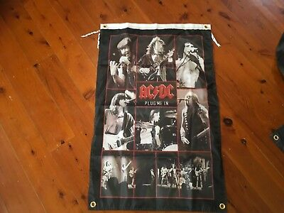 ACDC man cave sign flag acdc Bon Scott Angus young banner poster concert sign