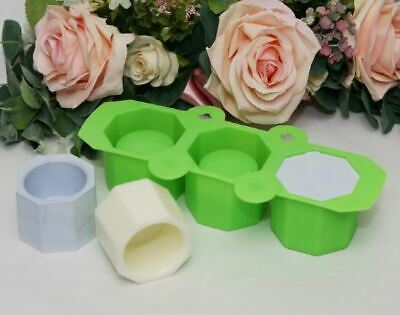 (Silicone Mould) Hexagon Flowerpot - 3 balls Silicone soap Mould plaster Mold