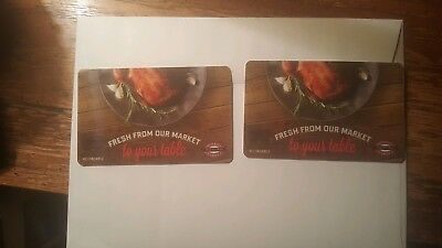 Two (2) Boston Market Gift Cards, $25 Each - $50 Total