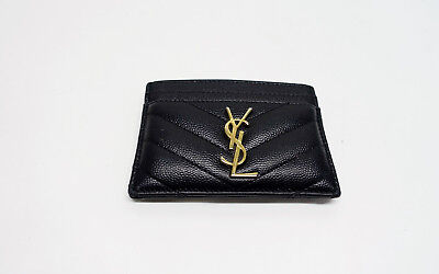 fbbe4e188a Yves Saint Laurent Monogram Card Case Grain de poudre embossed leather  P1/N6583