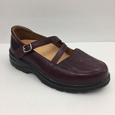 26a66bb618aa Dr Comfort Betsy Women Size 5.5 Wide Burgundy Mary Jane Diabetic Orthopedic  Shoe