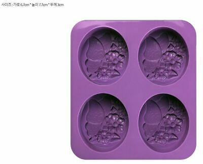 Flower Butterfly 4 balls-  Silicone soap Mould plaster Mold