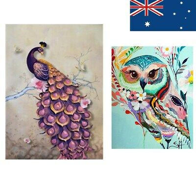 Peacock Owl DIY 5D Diamond Embroidery Painting Cross Stitch Crafts Home Decor