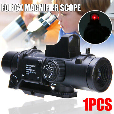 6X Red Dot Sight Tactical Magnifier Scope Primary Hunting For JinMing Gel Ball