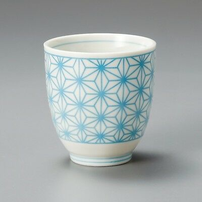Minoyaki Tea Cup Yunomi Green Tea Ocha Blue Sushi L-1234 MADE IN JAPAN