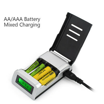 Smart C905W 4 Slots LCD Display Intelligent AA/AAA Battery Rapid 1.2A Charger C