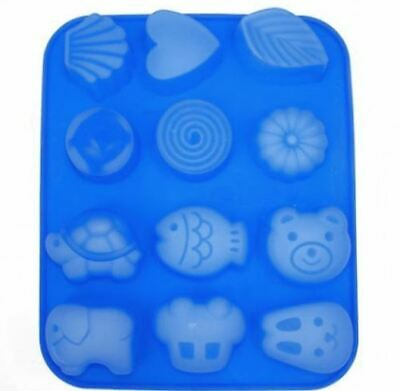 Animal & Natural 12 balls Silicone soap Mould plaster Mold