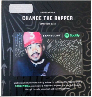 Starbucks Coffee Gift Card Chance The Rapper Limited Edition Spotify Collabo