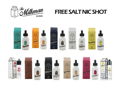 The Milkman 50ml Short Fill Sub Ohm ELiquid 0mg 3mg with FREE Salt Nic Shot