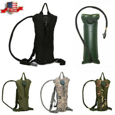 3L Water Bladder Bag Military Hiking Camping Hydration Backpack Outdoor Packs