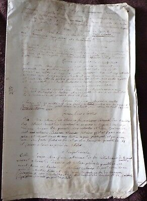 Early French Document Related to Building Work, 18th Century?