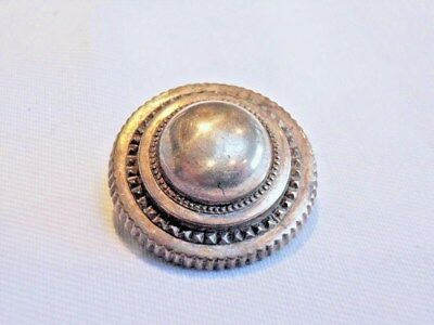 Beautiful Antique Victorian domed silver brooch