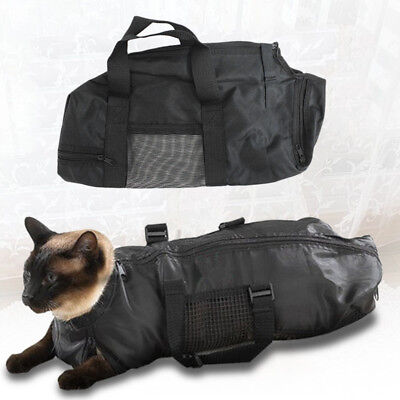 Mesh Cat Grooming Bathing Restraint Breathable Bag No Scratching For Claw Nail
