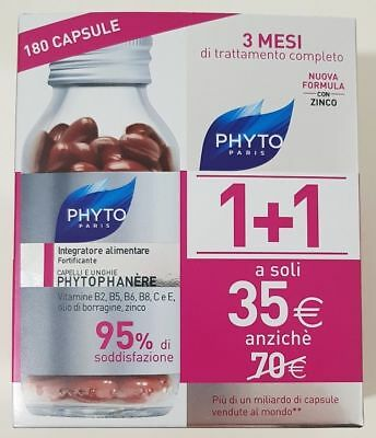 Offerta Phyto Phytophanere Bipack 1+1 - Integratore Capelli e Unghie 180 Capsule