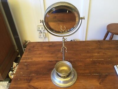 Vintage Made in England Shaving Mirror Stand with its original Bowl.