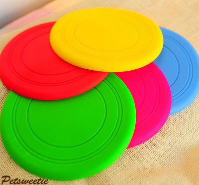 Dog Toys Exercise Frisbee Toy Training Tool Silicone Puppy Saucer Flying Saucer