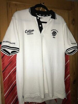 Barbarians Rugby Polo Shirt Medium Cotton Traders