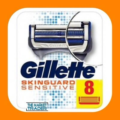 Gillette SkinGuard Sensitive Men's 8 Pack Shaving Razor Blades NEW FAST FREE P&P