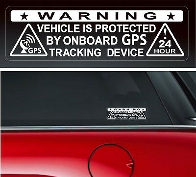 4 Warning Stickers Security Vehicle GPS Tracking Car Window  Safety Protection