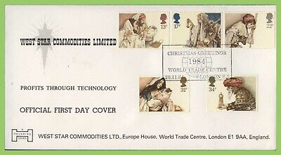 G.B. 1984 Christmas official Havering First Day Cover, World Trade Centre