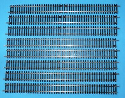 8 New R 601 Hornby Double Straight Track R601 Nickel Silver Free Post