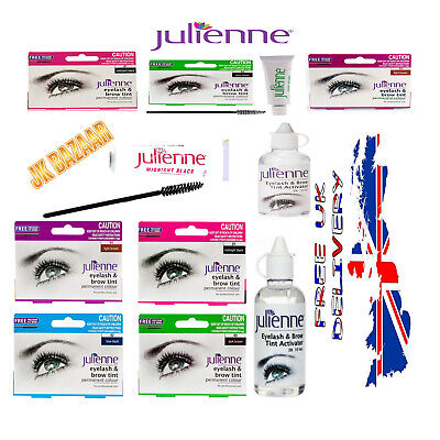 Julienne Professional Tinting Eyelash & Eyebrow Dye Tint Lash Kit All (Colours)