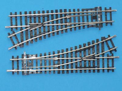 2 HORNBY R8072 LEFT HAND POINTS for SURFACE POINT MOTORS R8243