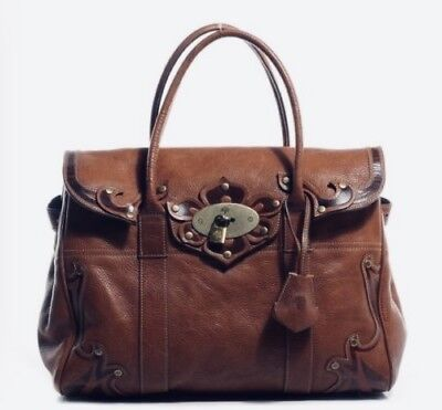 EUC Special Edition Mulberry Bayswater Oak Brown Leather Tooled Bag Ret. $1500+