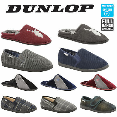 Dunlop Mens Slippers Slip On Mules / Twin Gusset Boxed UK Sizes 7 8 9 10 11 12