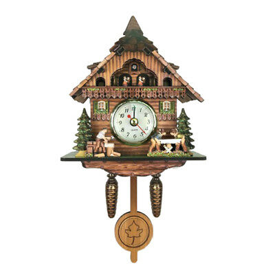 Antique Carved Cuckoo Wall Clock Pendulum Clock Craft Art Clock I