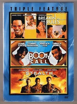 BREAKIN' ALL THE RULES + BOOTY CALL + STEALTH new dvd JAMIE FOXX 3 DISC BOX SET