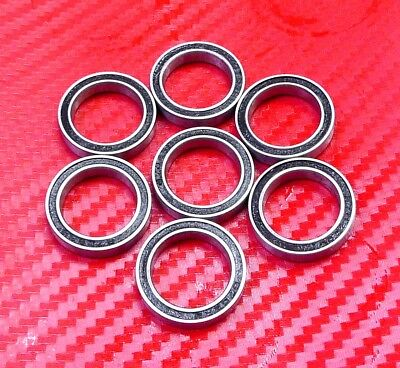 4 pcs S6700-2RS (10x15x4 mm) 440c Stainless Steel Rubber Sealed Ball Bearings