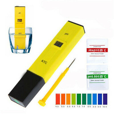 Digital PH Meter Tester Water Hydroponics Portable Pen Aquarium Pool Test Kit FO