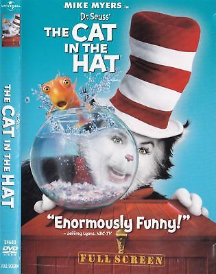 Dr. Seuss The Cat in the Hat (DVD, 2004, Fullscreen) Mike Myers