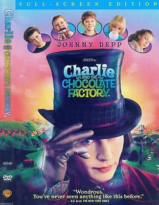 Charlie and the Chocolate Factory (DVD, 2005, Fullscreen) Johnny Depp